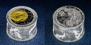 Рис.13. 50 долларов, Польша (по заказу о-ва Ниуэ), 2013, серебро, золото. «FORTUNA  REDUX» («Возвращение фортуны»). Из коллекции Музея денег