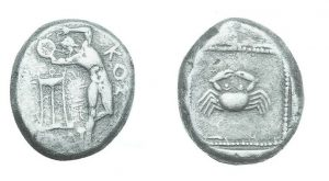 Рис.14. Тетрадрахма. Остров Кос, 480-470 гг. до н.э.