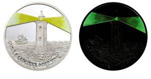 Рис. 23.10 франков. Конго, 2006, серебро (монета светится в темноте)