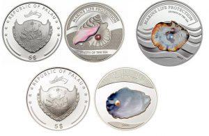 Рис. 26 5 долларов. Палау, 2008- 2013 гг., серебро.  Монеты из серии «Защита морской жизни»