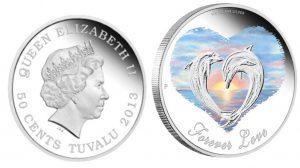Рис. 8. 50 центов. Тувалу, 2013, серебро