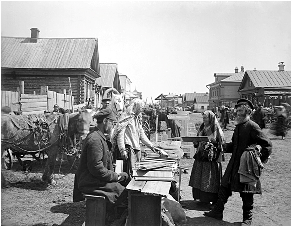 Крестьяне с. Бор, Нижегородской губернии, Семеновского уезда. 1894 г.
