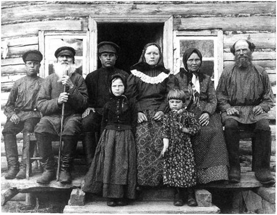 Крестьянская семья. Рязанская губерния, Касимовский уезд